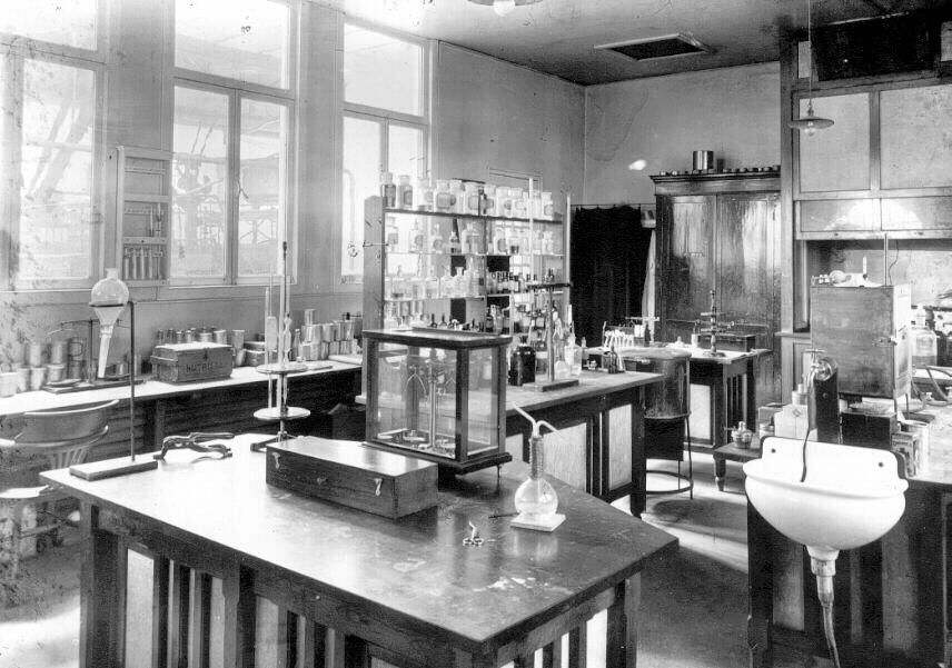 Photo d'un vieux laboratoire Nutricia